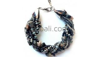 bali beaded crystal stone bracelet charm