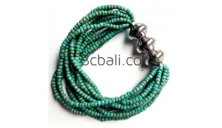 bali beads bracelets stretches turquoise