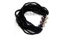 bali beads multi strand bracelets stretch handmade