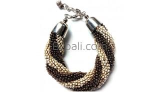 bali glass beaded handmade bracelets two color