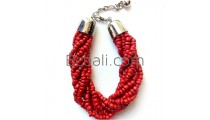 balinese handmade bead bracelets charm stainless