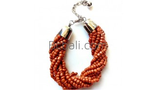 balinese handwork bead bracelets charm stainless