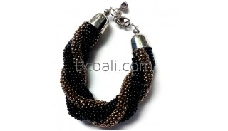 beaded glass bracelets made from bali new