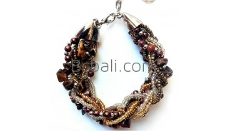 beads crystals stone bracelets charms