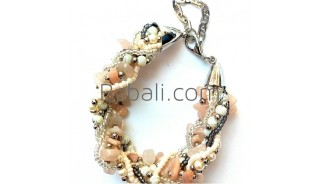 hand made beads crystals stone bracelets charm