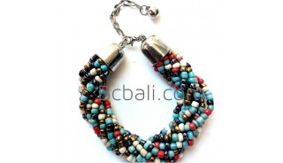 mixing glass beads bracelet charms stainless aaccessories