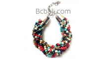 multi bead bracelets charm rolling stainless charms