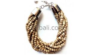 natural beaded bracelets balinese design new fashion women