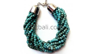 turquoise bead bracelets bali charm fashion women accessory