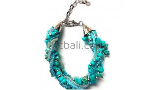 turquoise stone beads bracelets charms accessories bali