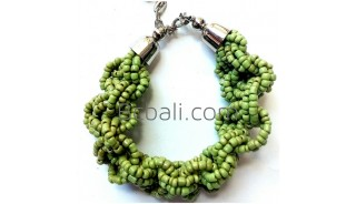 wrapted beads charming bracelets bali fashion