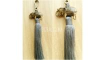 key rings tassels bronze golden elephant caps grey
