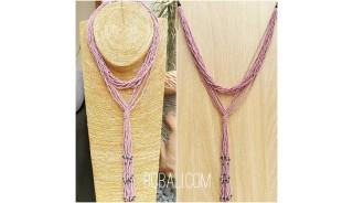 multiple strand beads purple necklaces double wrist