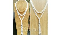 multiple strand beads white necklaces double wrist