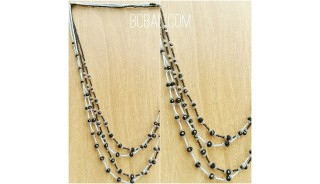 two color crystal beads bronze necklaces