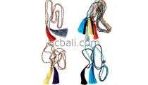crystal glass bead exclusive long strand tassel mix color