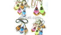glass bead miyuki evil eyes necklace crystal pendant