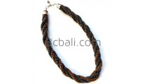 full beads semi choker necklaces two color