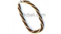 two color combination glass beads necklaces style bali