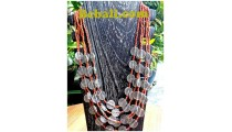 bali casandra 5strand necklaces coin beads