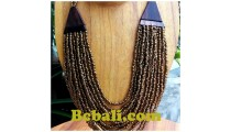 balinese golden glass bead choker ethnic necklace hand work design