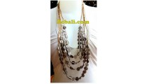 nature bead organic quarted strand casandra necklace