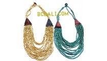 necklaces choker layer bead wood ethnic design