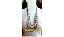 silver bead triangle strand flowers necklace fashion