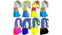colorfull mixed beads stones necklace tassel
