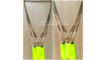 long chain necklace antique bronce tassels beads
