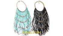 chandelier fashion necklaces choker multi strand glass