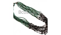 crystal bead multiple strand necklaces handmade turquoise