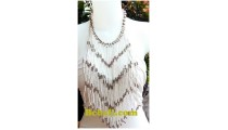rumbai necklaces long seeds glass beads fashion