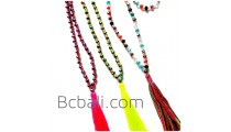 fashion necklaces long strand crystal beaded