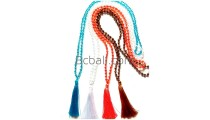 necklaces tassels glass beads crystal long seeds