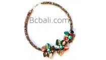 seashells necklaces flowers chokers beads glass