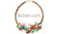 seashells necklaces flowers pendants chokers beads