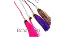 tassel necklaces long layer small beads woman