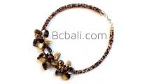 women fashion choker necklaces beads flowers shells