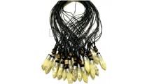 20 pieces necklace pendants bullet resin for men's