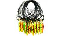 necklaces for men's pendant surf painting rasta rainbow