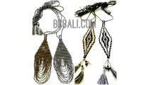 4 designs crystal beading miyuky pendant necklaces