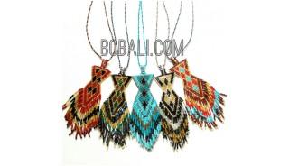 bali handmade crystal beads miyuki necklaces pendant