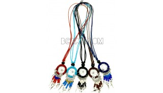 beaded pendant dream catcher necklace Indian style