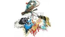 crystal pendant necklaces long string miyuki beading