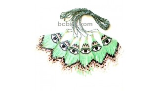 evil eyes pendant necklaces crystal bead miyuki fashion