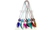 necklaces dream catcher pendant feather strings