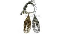 two designs necklaces pendants beaded miyuki crystal