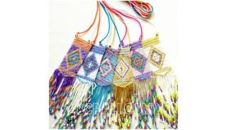 6colors pendant necklace crystal bead miyuki designs bali