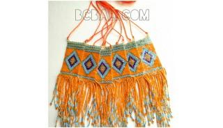 balinese miyuki necklace long string pendant